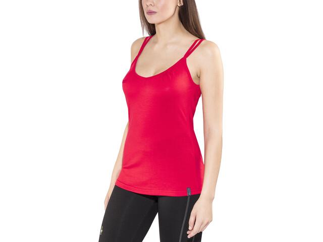 Bergans Cecilie - Camisa sin mangas Mujer - rojo